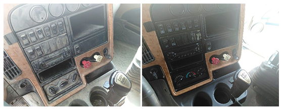 Before & After Center Console